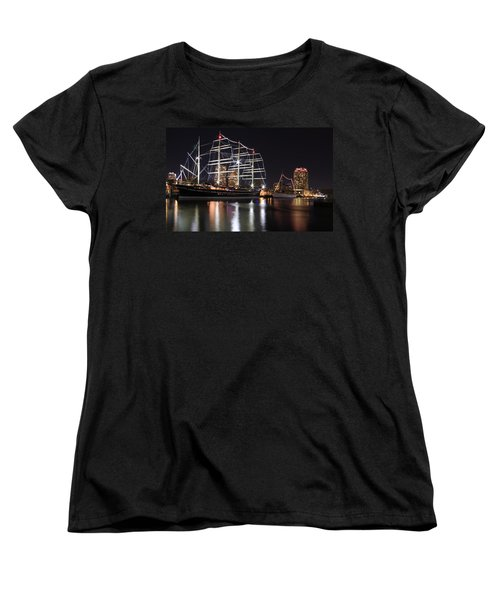 Women's T-Shirt (Standard Cut) featuring the photograph Missoula At Nighttime by Alice Gipson