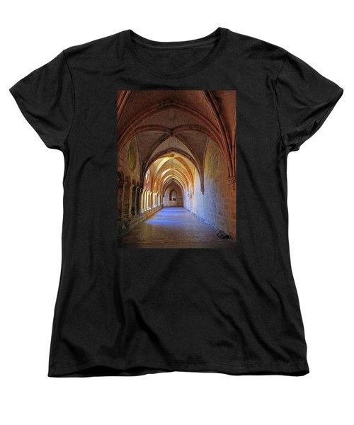 Women's T-Shirt (Standard Cut) featuring the photograph Monastery Passageway by Dave Mills