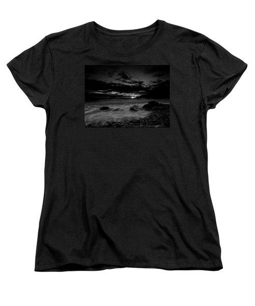 Monochrome Sunset  Women's T-Shirt (Standard Cut) by Beverly Cash