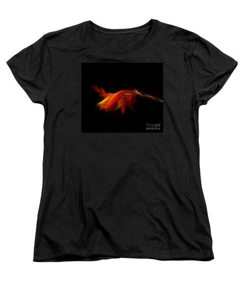 Women's T-Shirt (Standard Cut) featuring the photograph Montbretia by Lynn Bolt