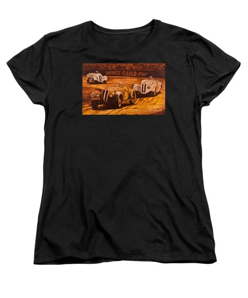 Women's T-Shirt (Standard Cut) featuring the painting Monte-carlo 1937 by Igor Postash