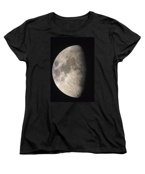 Women's T-Shirt (Standard Cut) featuring the photograph Moon Against The Black Sky by John Short