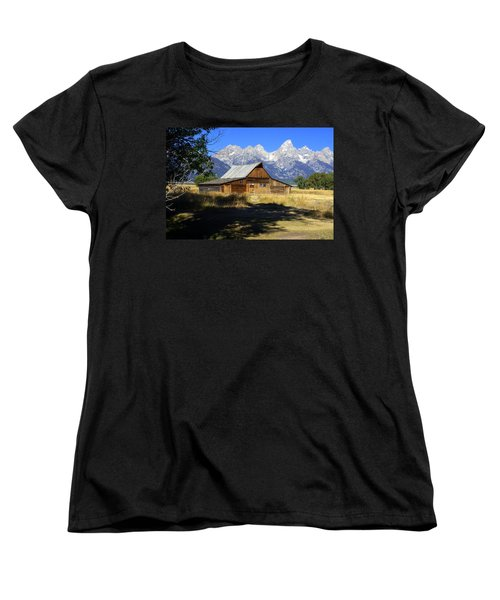 Women's T-Shirt (Standard Cut) featuring the photograph Mormon Row Barn by Marty Koch
