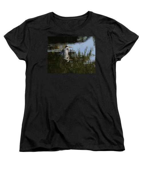 Women's T-Shirt (Standard Cut) featuring the photograph Morning Bath by Steven Sparks