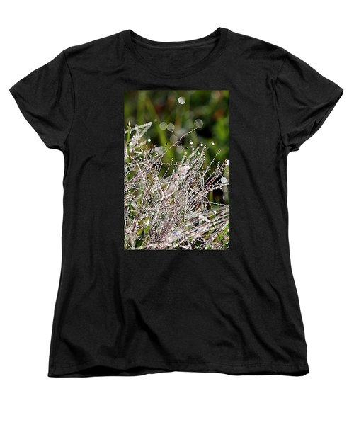Women's T-Shirt (Standard Cut) featuring the photograph Morning Dew by Lauren Radke
