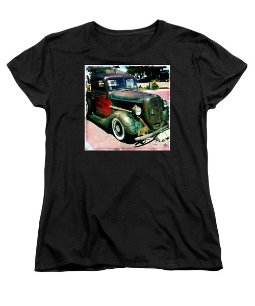 Women's T-Shirt (Standard Cut) featuring the photograph Morning Glory Coal Truck by Nina Prommer