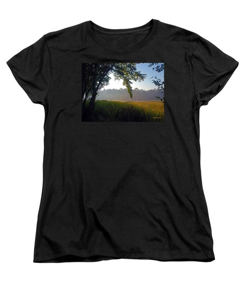 Morning On The River Women's T-Shirt (Standard Cut) by Kay Lovingood
