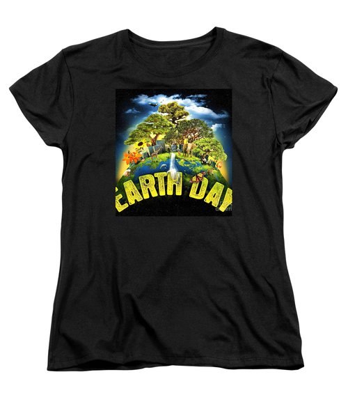 Mother Earth Women's T-Shirt (Standard Cut) by Pg Reproductions