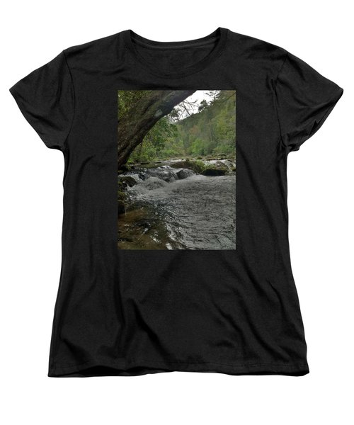 Women's T-Shirt (Standard Cut) featuring the photograph Mountain Stream by Janice Spivey