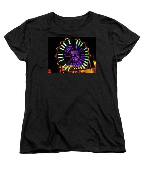 Multi Colored Ferris Wheel Women's T-Shirt (Standard Cut) by Kym Backland