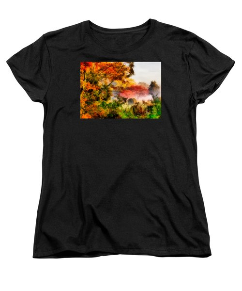 Women's T-Shirt (Standard Cut) featuring the painting My Front Yard by Lynne Jenkins