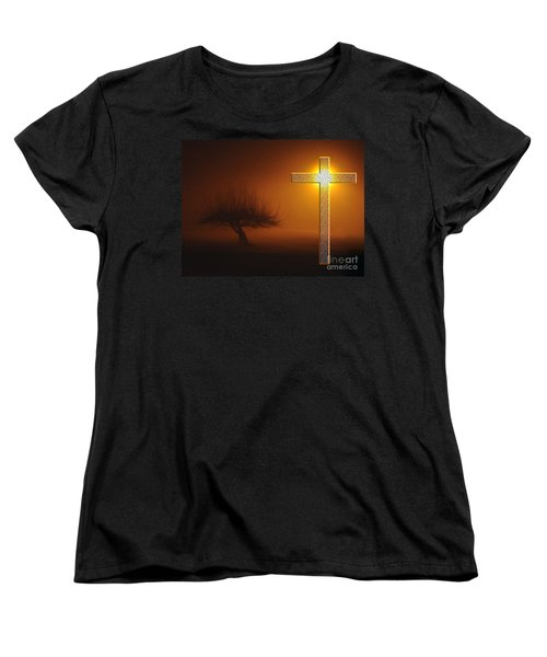 Women's T-Shirt (Standard Cut) featuring the photograph My Life In God's Hands 3 To 4 Ration by Clayton Bruster