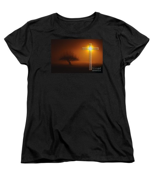 Women's T-Shirt (Standard Cut) featuring the photograph My Life In God's Hands by Clayton Bruster