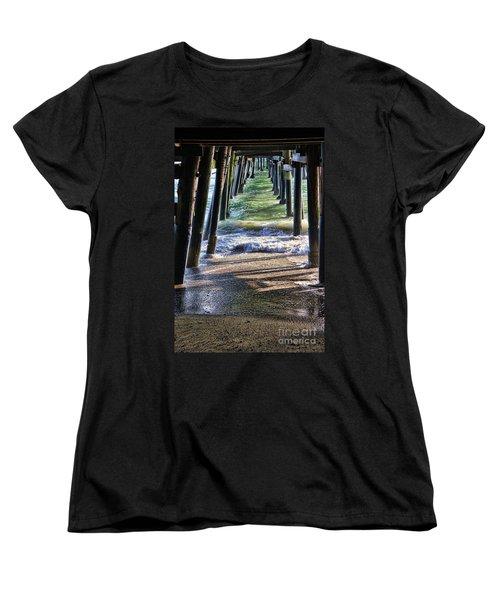 Neptune's Stairway Women's T-Shirt (Standard Cut) by Mariola Bitner