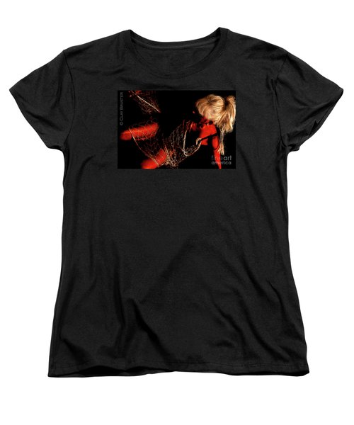Netted A Red Women's T-Shirt (Standard Cut) by Clayton Bruster