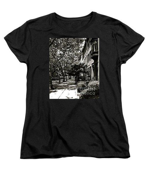 Women's T-Shirt (Standard Cut) featuring the photograph New York Sidewalk by Eric Tressler