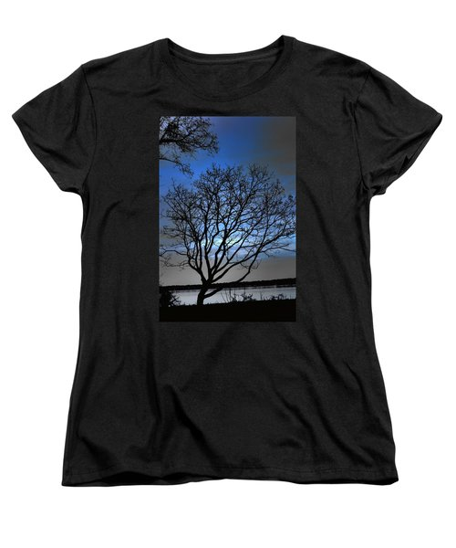 Night On The River Women's T-Shirt (Standard Cut) by Dan Stone