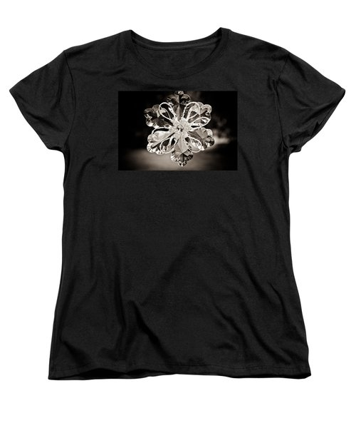 Women's T-Shirt (Standard Cut) featuring the photograph Noir Reflections by Sara Frank