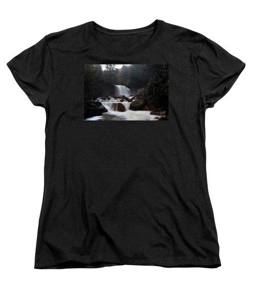 Women's T-Shirt (Standard Cut) featuring the photograph North Forks Waterfalls by Dan Friend