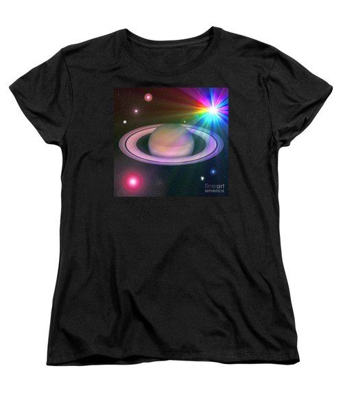 Women's T-Shirt (Standard Cut) featuring the digital art Nova Rainbow by Greg Moores