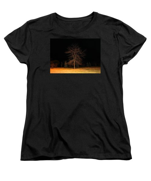 Women's T-Shirt (Standard Cut) featuring the photograph November Night by Milena Ilieva