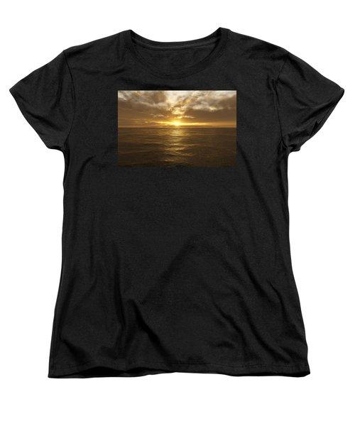 Ocean Sunset Women's T-Shirt (Standard Cut) by Mark Greenberg
