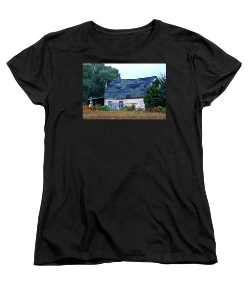 Women's T-Shirt (Standard Cut) featuring the photograph Old Barn by Davandra Cribbie