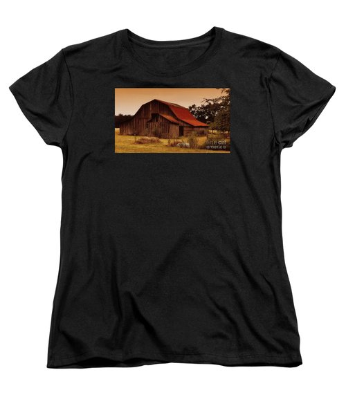 Women's T-Shirt (Standard Cut) featuring the photograph Old Barn by Lydia Holly
