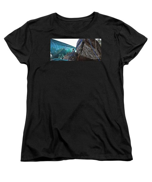 Old Boat And Flagons Women's T-Shirt (Standard Cut) by Andy Prendy