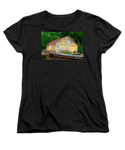 Women's T-Shirt (Standard Cut) featuring the photograph Old Cabin by Les Palenik