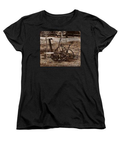 Women's T-Shirt (Standard Cut) featuring the photograph Old Farm Equipment by Blair Stuart