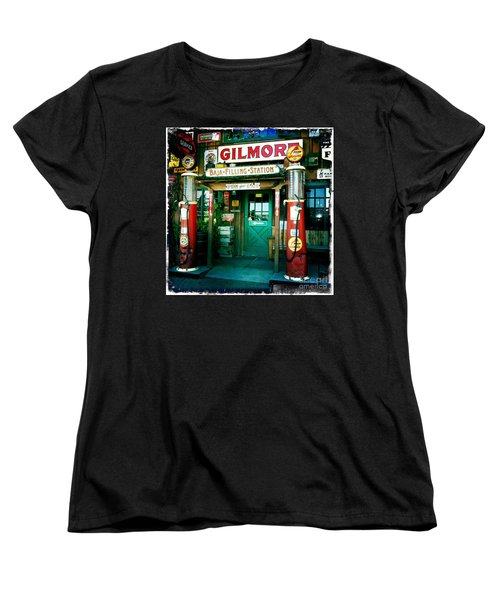 Old Fashioned Filling Station Women's T-Shirt (Standard Cut) by Nina Prommer