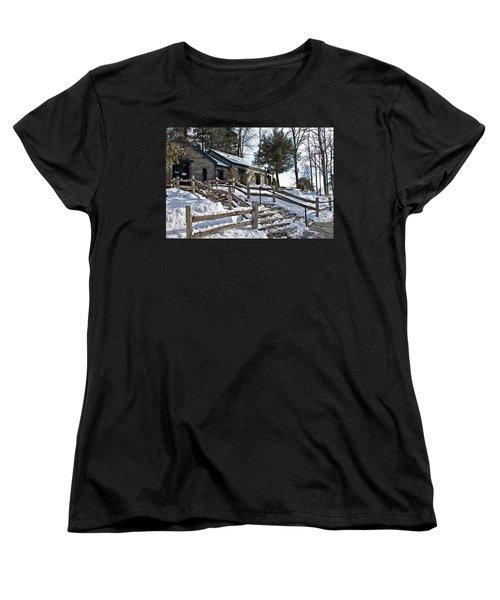 Old Rock Building  Women's T-Shirt (Standard Cut) by Susan Leggett