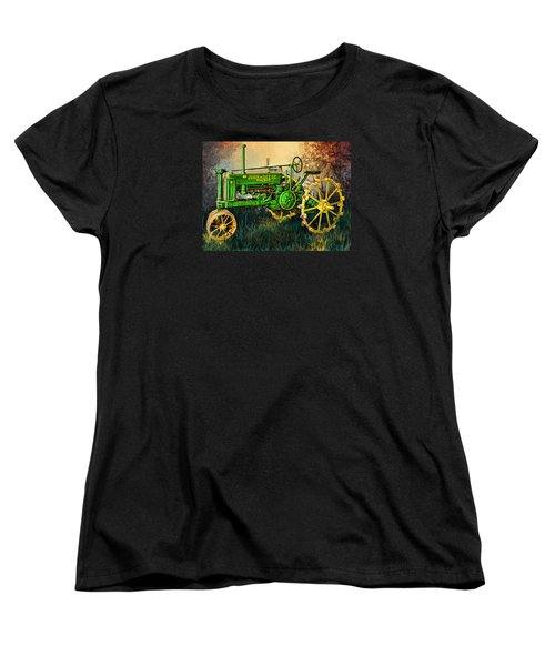 Women's T-Shirt (Standard Cut) featuring the digital art Old Tractor by Mary Almond