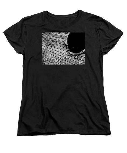 Old Wooden Boat Women's T-Shirt (Standard Cut) by Andy Prendy
