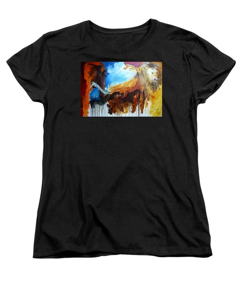Women's T-Shirt (Standard Cut) featuring the painting On Safari by Keith Thue
