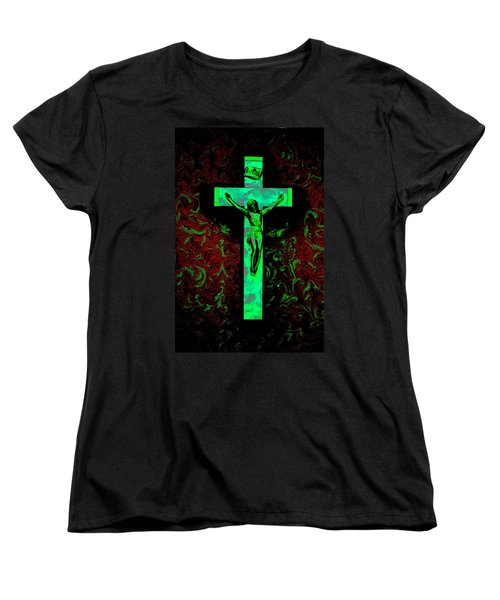Women's T-Shirt (Standard Cut) featuring the photograph On The Cross by David Pantuso