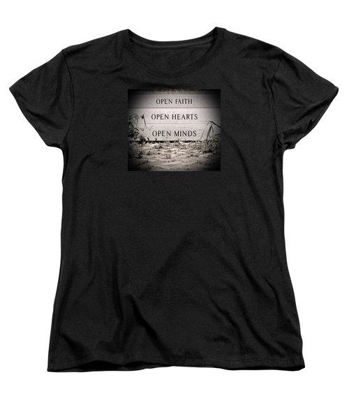 Openings Women's T-Shirt (Standard Cut) by Jean Haynes