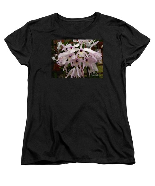 Women's T-Shirt (Standard Cut) featuring the photograph Orchids Beauty by Donna Brown