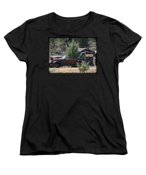 Women's T-Shirt (Standard Cut) featuring the photograph Parked At The Trading Post by Athena Mckinzie