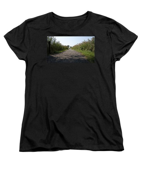 Path To The Bay Women's T-Shirt (Standard Cut) by Charles Kraus