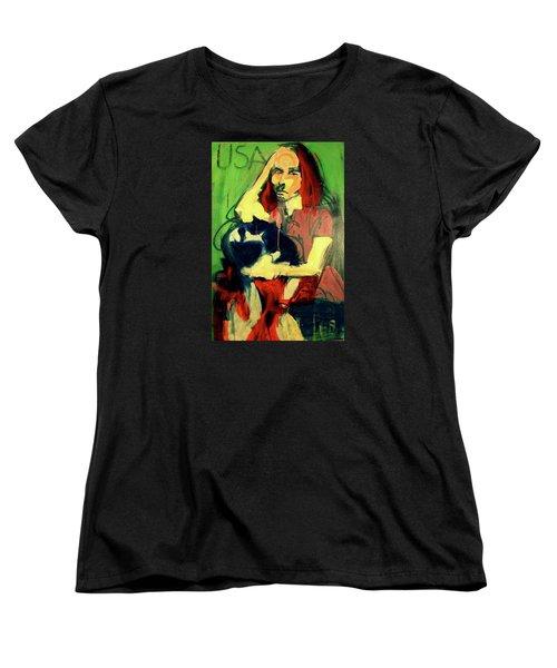 Patty Smyth Women's T-Shirt (Standard Cut) by Les Leffingwell