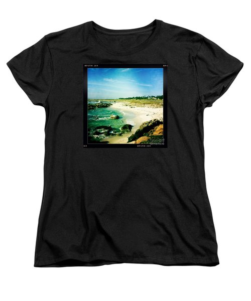 Women's T-Shirt (Standard Cut) featuring the photograph Pebble Beach by Nina Prommer