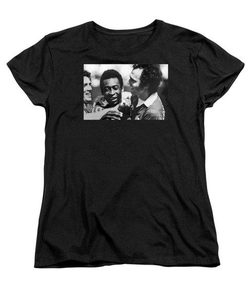 Pele & Beckenbauer, C1977 Women's T-Shirt (Standard Cut)