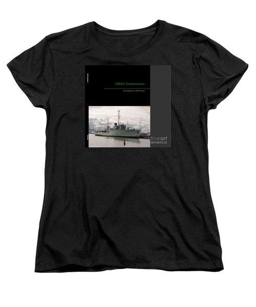 Women's T-Shirt (Standard Cut) featuring the mixed media Photobook On Hmas Castlemaine by Blair Stuart
