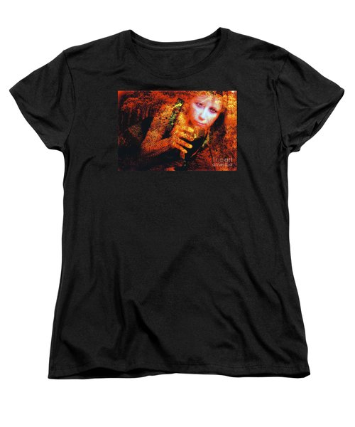 Women's T-Shirt (Standard Cut) featuring the photograph Picnic In The Forest by Clayton Bruster
