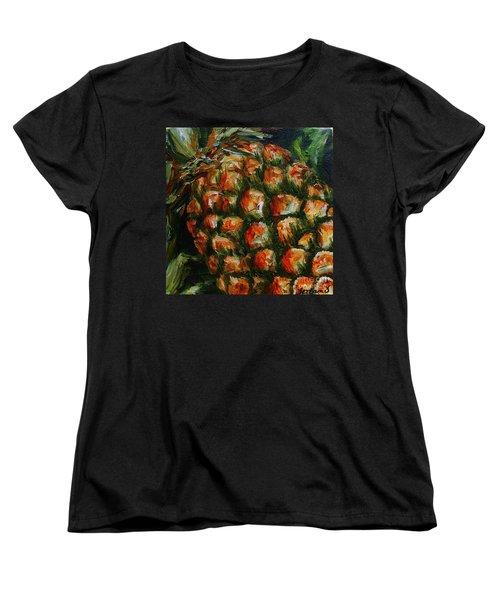 Pineapple Women's T-Shirt (Standard Cut) by Karen  Ferrand Carroll