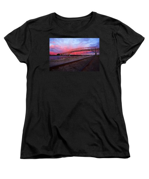 Women's T-Shirt (Standard Cut) featuring the photograph Pink And Blue by Gordon Dean II