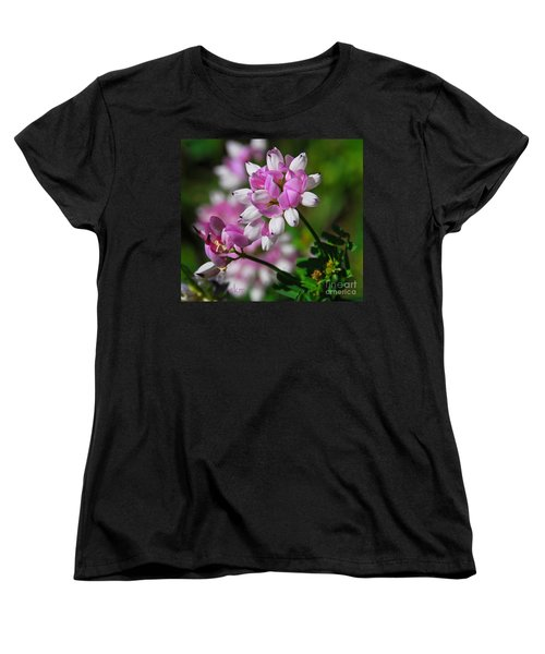 Pink And White Women's T-Shirt (Standard Cut) by Cindy Manero