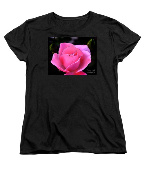 Women's T-Shirt (Standard Cut) featuring the photograph Pink Rose Day by Clayton Bruster